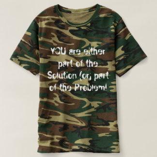 ¡Camiseta de Camoflauge de los hombres que Remeras