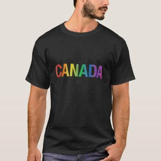 Camiseta de Canadá del arco iris del orgullo gay
