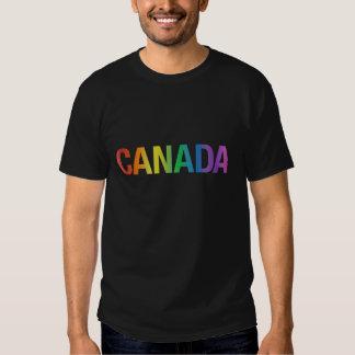 Camiseta de Canadá del arco iris del orgullo gay Remera
