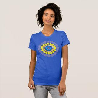 Camiseta de Caribea Heliconia de los espirales de Poleras