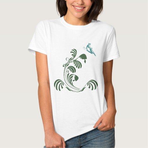 Camiseta de cernido de la mariposa polera