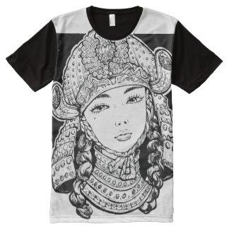 Camiseta de Chiyo de las damas de hierro Playeras Con Estampado Integral