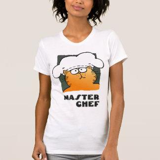 Camiseta de cocinar divertida del gato de la
