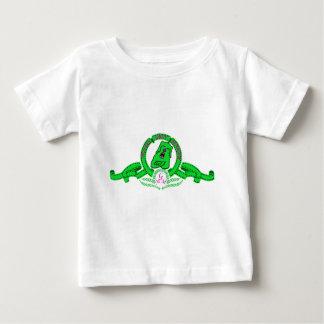 Camiseta de color niño de Grin el perrito verde Baby T-Shirt