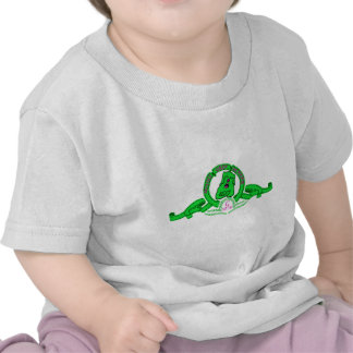 Camiseta de color niño de Grin el perrito verde Shirt