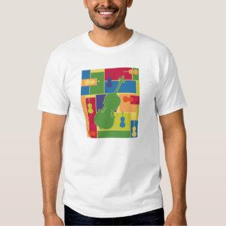 Camiseta de Colorblocks del violoncelo Playera