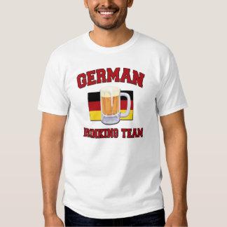 Camiseta de consumición alemana del equipo poleras