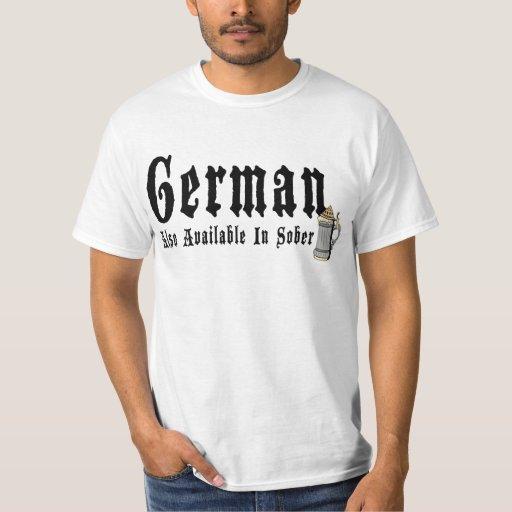 Camiseta de consumición alemana divertida poleras