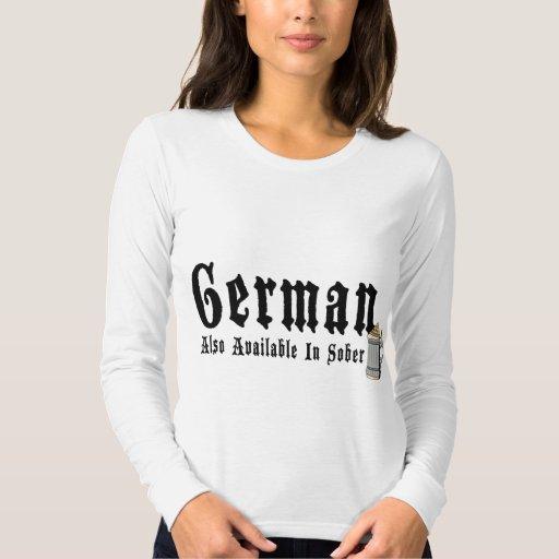 Camiseta de consumición alemana divertida remera