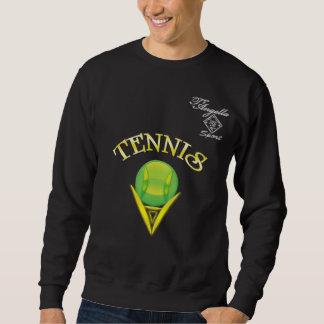 Camiseta de Crewneck del logotipo del tenis