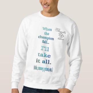 camiseta de Crewneck del tenis de la caída del