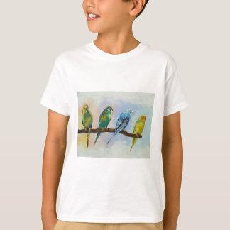 Camiseta de cuatro Parakeets