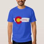 Camiseta de Cyclocross de la bandera de Colorado Poleras