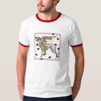 Camiseta de Deerhound del escocés de los ángeles Playera
