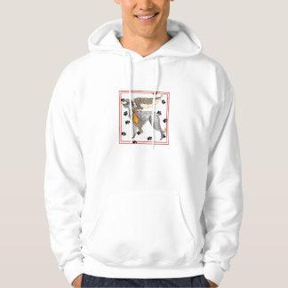 Camiseta de Deerhound del escocés de los ángeles Sudadera Pullover