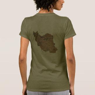 Camiseta de DK de la bandera y del mapa de Irán