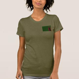 Camiseta de DK de la bandera y del mapa de Zambia Playeras