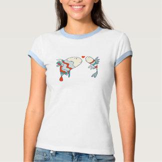 Camiseta de dos poca pescados del amor polera