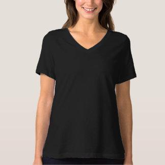 Camiseta de elevación con cuello de pico del poleras