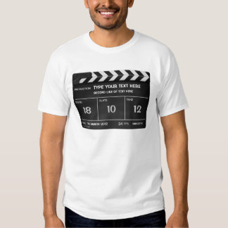 Camiseta de encargo CLÁSICA de CLAPPERBOARD con su Playeras