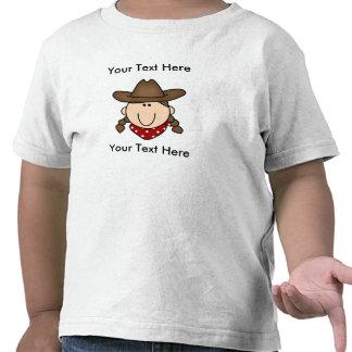 Camiseta DE ENCARGO de BROWN del CHICA de la VACA