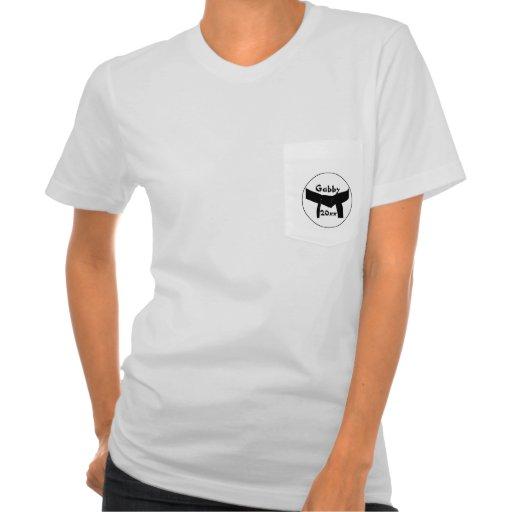Camiseta de encargo de la correa negra de los arte