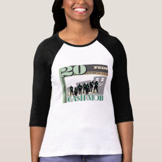 Camiseta de encargo de la multitud del efectivo