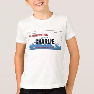 Camiseta de encargo de la placa de Washington Camisas