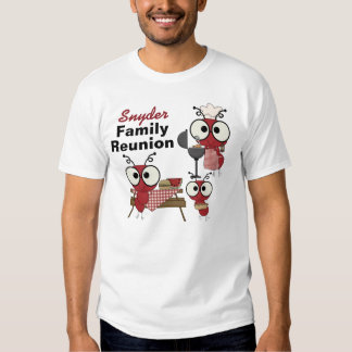 Camiseta de encargo de la reunión de familia playeras