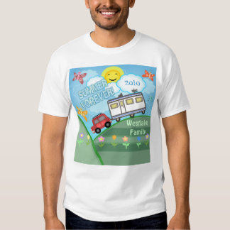 Camiseta de encargo de las vacaciones de familia d playeras