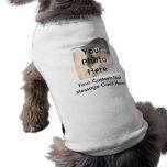 Camiseta de encargo del perro de la foto ropa perro