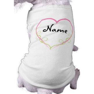 ¡Camiseta de encargo del perro del corazón - añada Camisetas De Mascota