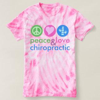 Camiseta de encargo del teñido anudado del amor y