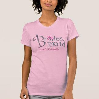 Camiseta de encargo linda de Bridemaid Playera