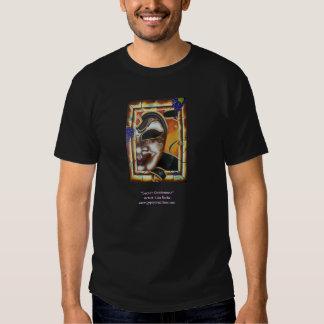 Camiseta de encargo negra con imagen de la máscara playera