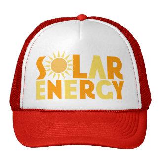Camiseta de energía solar del regalo gorros