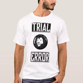 Camiseta de ensayo y del error del león