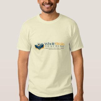 Camiseta de enseñanza 2 del cerebro entero playera
