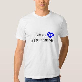 Camiseta de Escocia del amor Polera
