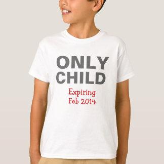 Camiseta de expiración del hijo único