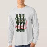 Camiseta de Feliz Navidad del navidad del cactus