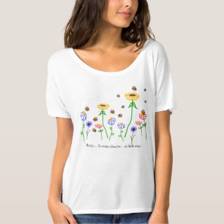 Camiseta de Flowy del jardín de la abeja de