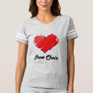 Camiseta de fútbol del coro de la demostración del polera