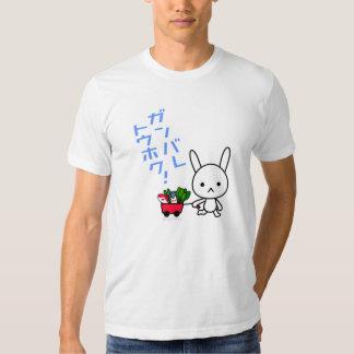 Camiseta de Ganbare Tohoku - conejo Polera