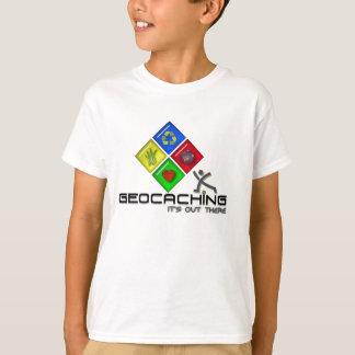 Camiseta de Geocaching Stickman Geocacher para los Remera