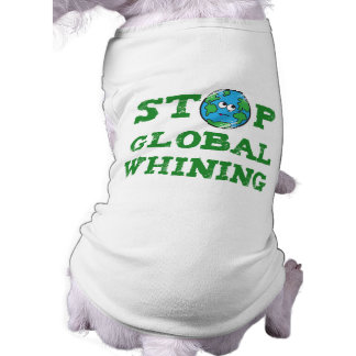 Camiseta de gimoteo global del perro playera sin mangas para perro