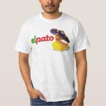 Camiseta de goma del pato del EL Pato Playeras