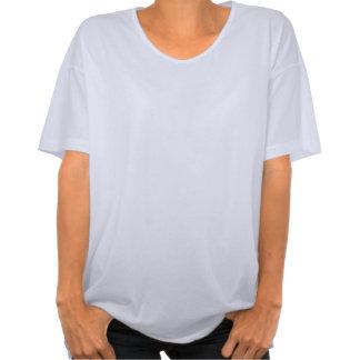 Camiseta de gran tamaño blanca de las señoras del