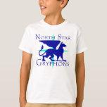 Camiseta de Gryphons de la estrella del norte de
