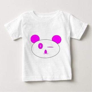 Camiseta de guiño rosada del bebé de la panda